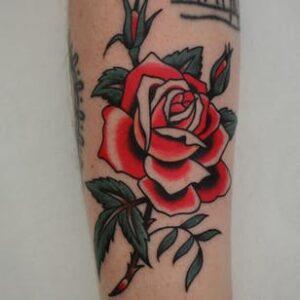 тату красной розы